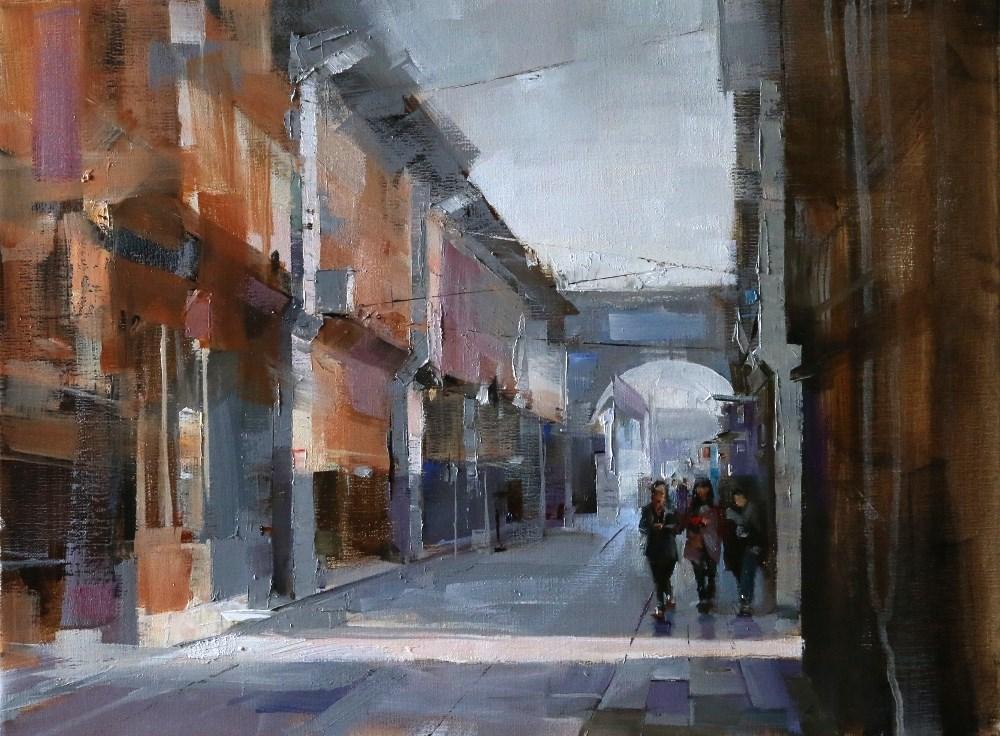 """""""Wuzhen Street 3"""" original fine art by Qiang Huang"""