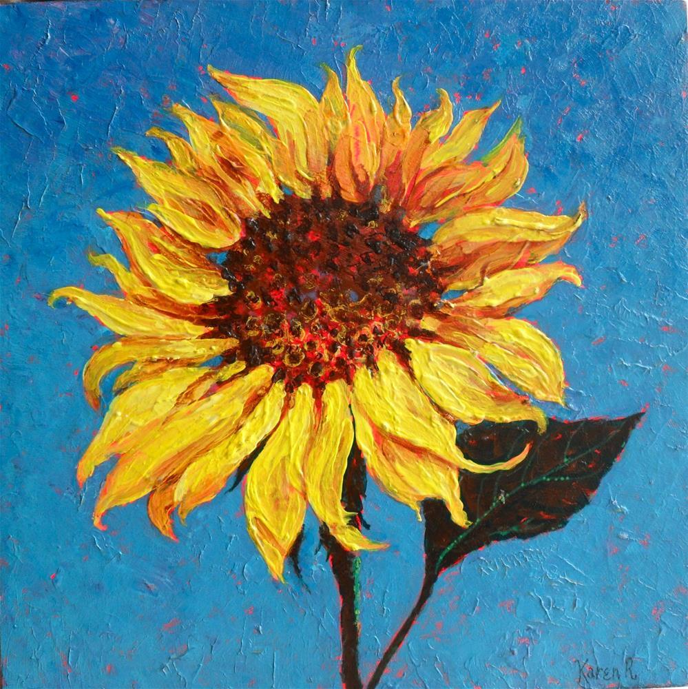 """Happy Flower"" original fine art by Karen Roncari"