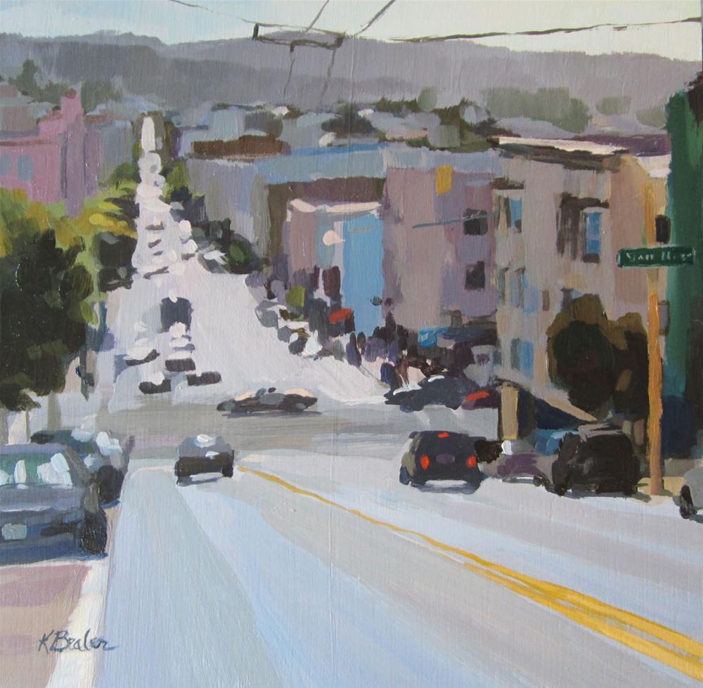 """street view"" original fine art by Kaethe Bealer"