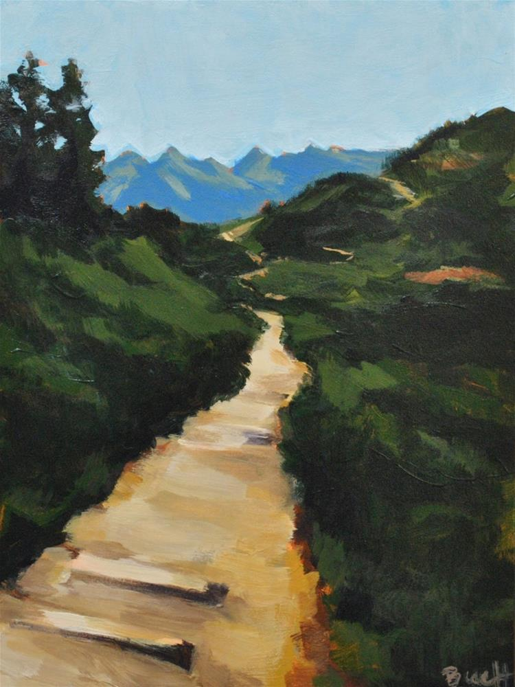 """Hiking Mt. Ranier"" original fine art by Shari Buelt"