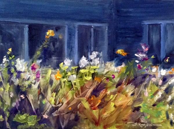 """""""End of the Day, Winnie's Garden"""" original fine art by Shelley Koopmann"""