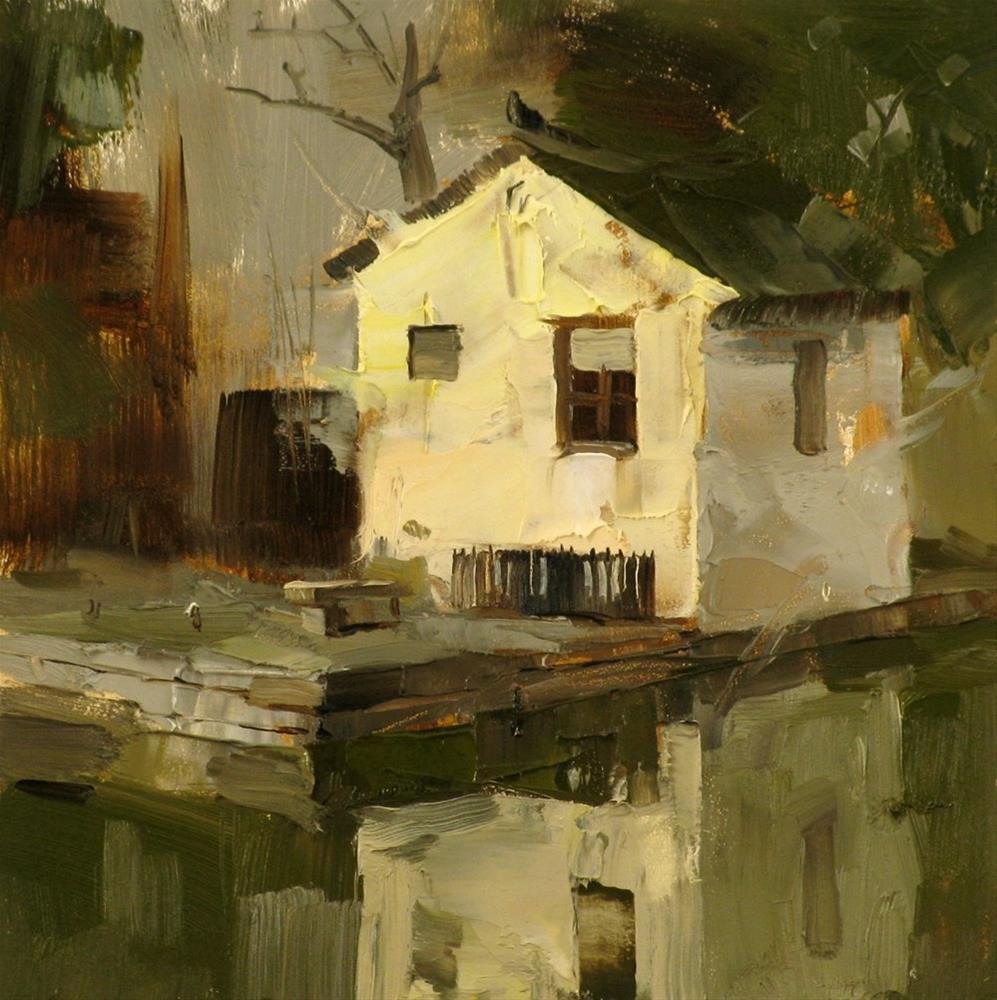 """""""A Small House"""" original fine art by Qiang Huang"""