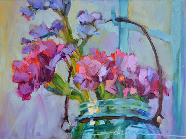 """""""Love & Color In My Hometown — Paris, KY"""" original fine art by Dreama Tolle Perry"""