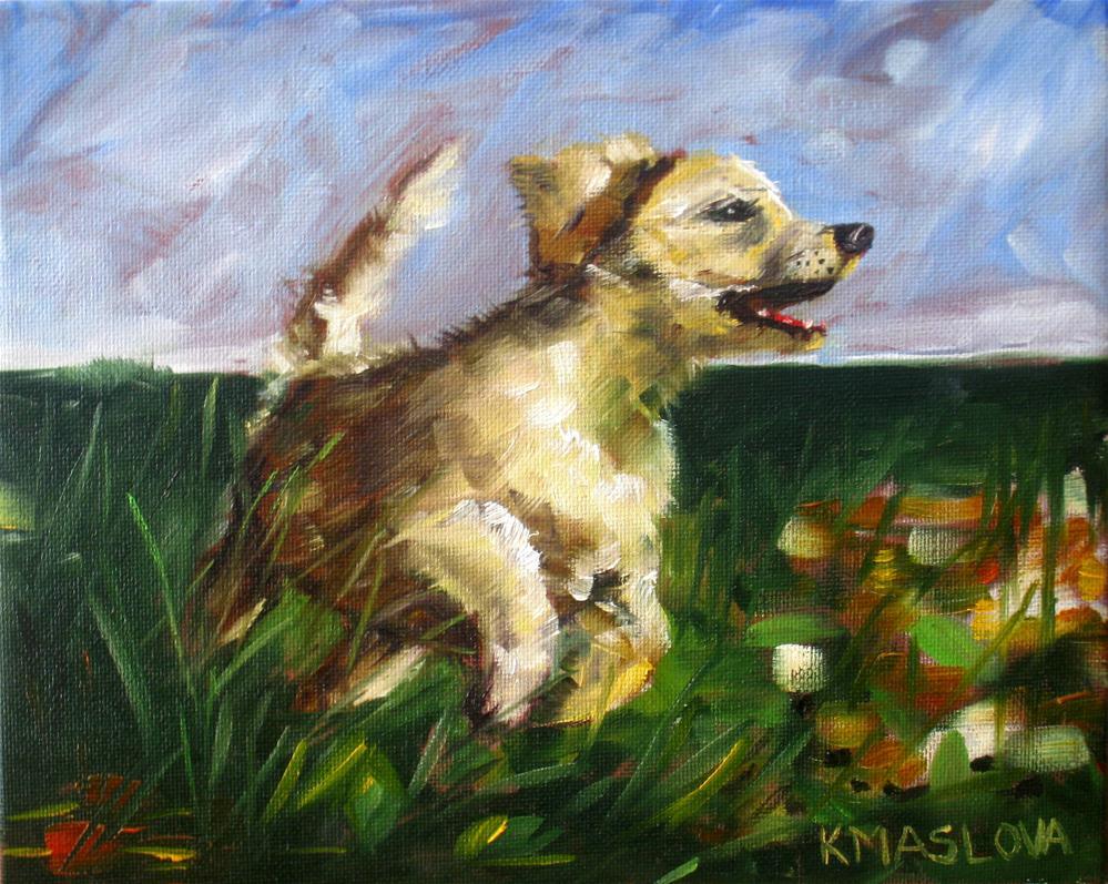 """Speed"" original fine art by Kulli Maslova"