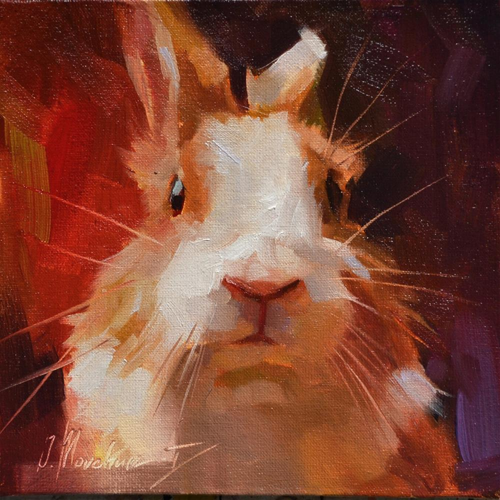 """And where is my carrot?"" original fine art by Oleksii Movchun"