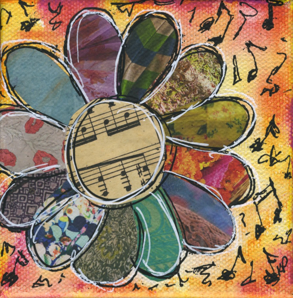 """""""Flowers are my Music"""" original fine art by Kali Parsons"""