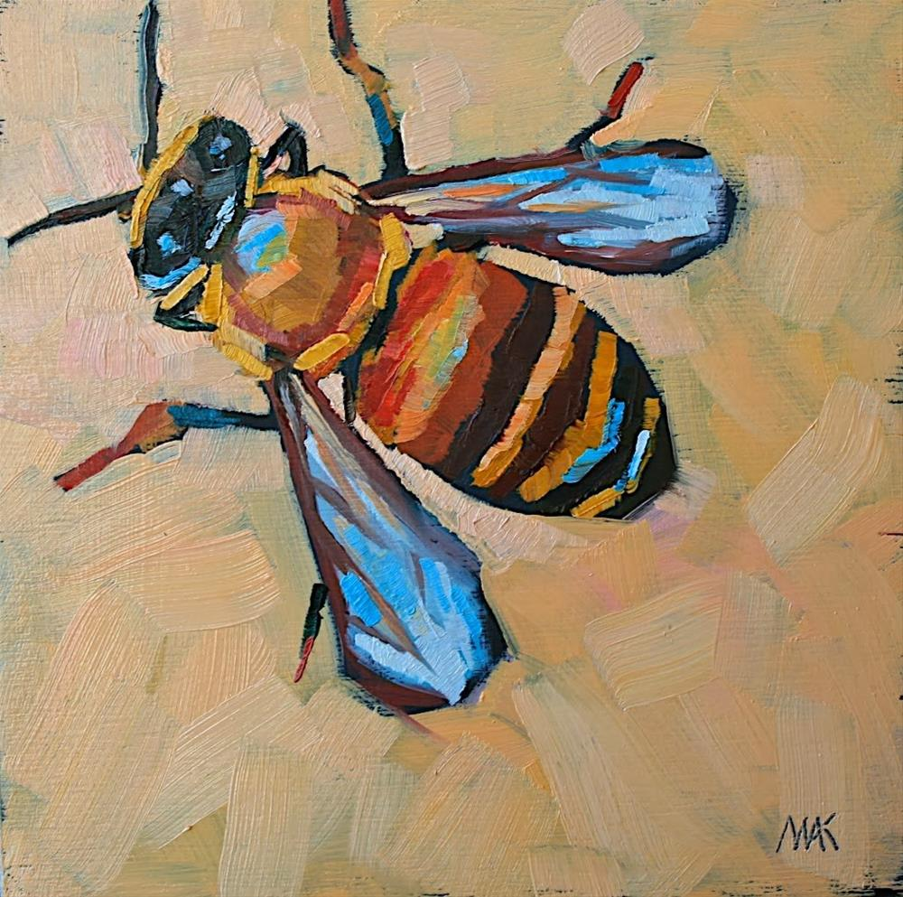 """""""Bee Still"""" original fine art by Mary Anne Cary"""