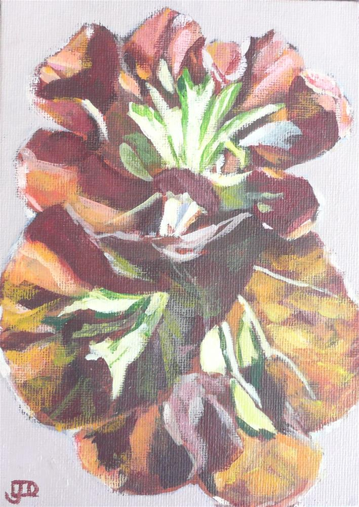"""Cathedral Bergonia"" original fine art by Leanne Owen"