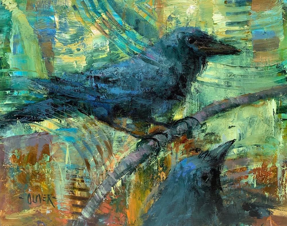 """""""The Raven's Nest"""" original fine art by Julie Ford Oliver"""