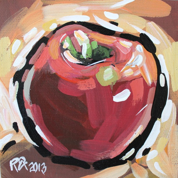 """Apple Abstraction 21"" original fine art by Roger Akesson"
