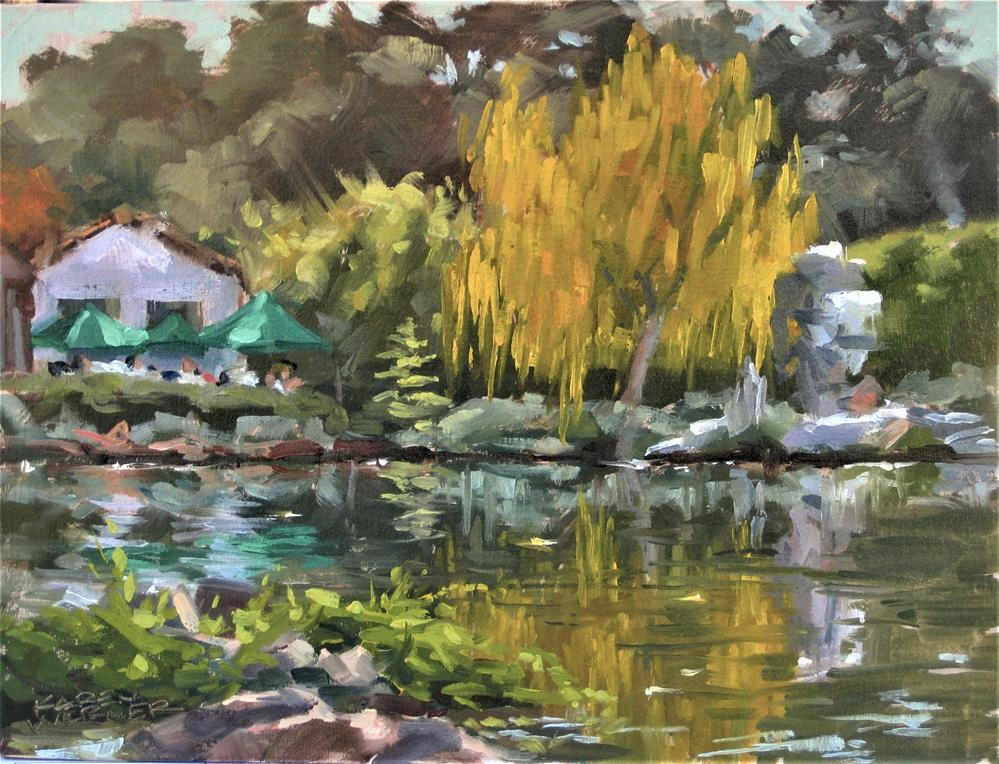 """The Radiant Tree"" original fine art by Karen Werner"