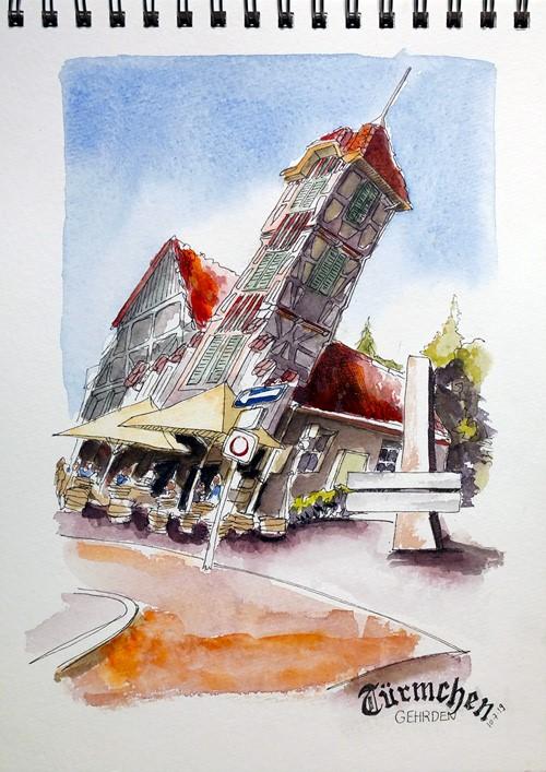 """2878 Türmchen"" original fine art by Dietmar Stiller"