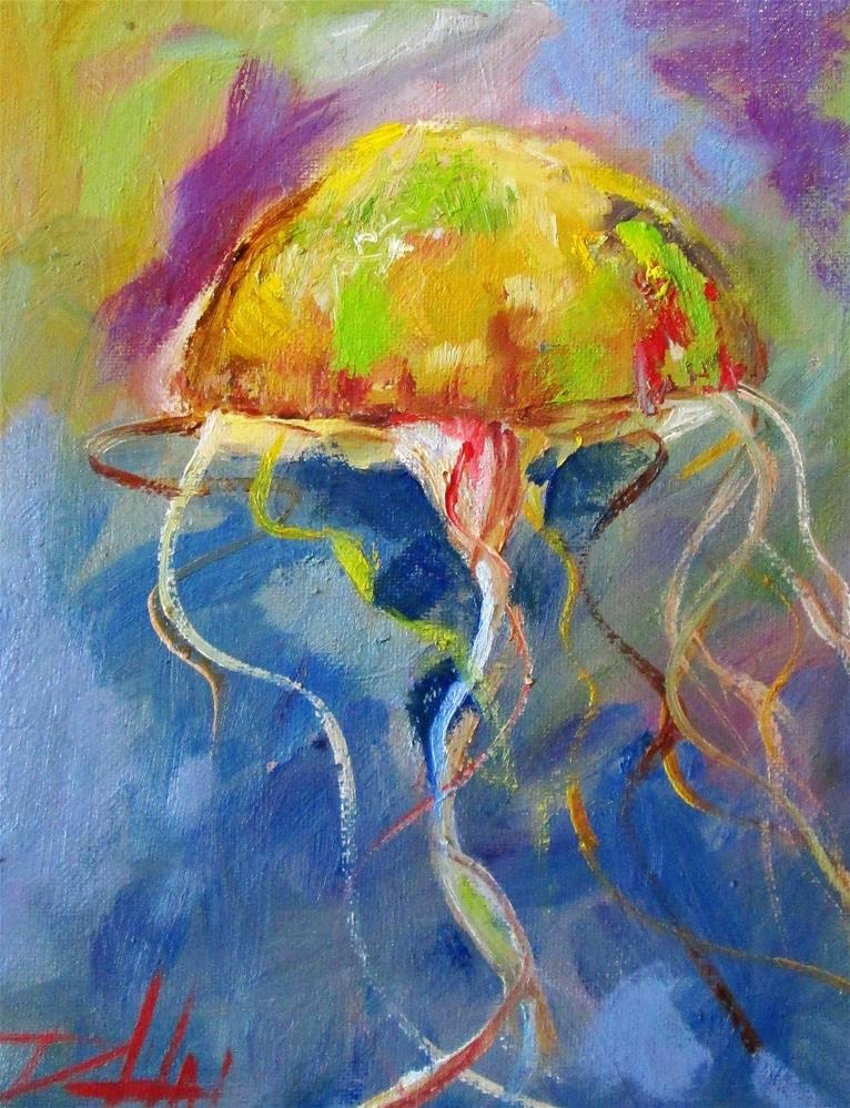 """Jellyfish"" original fine art by Delilah Smith"
