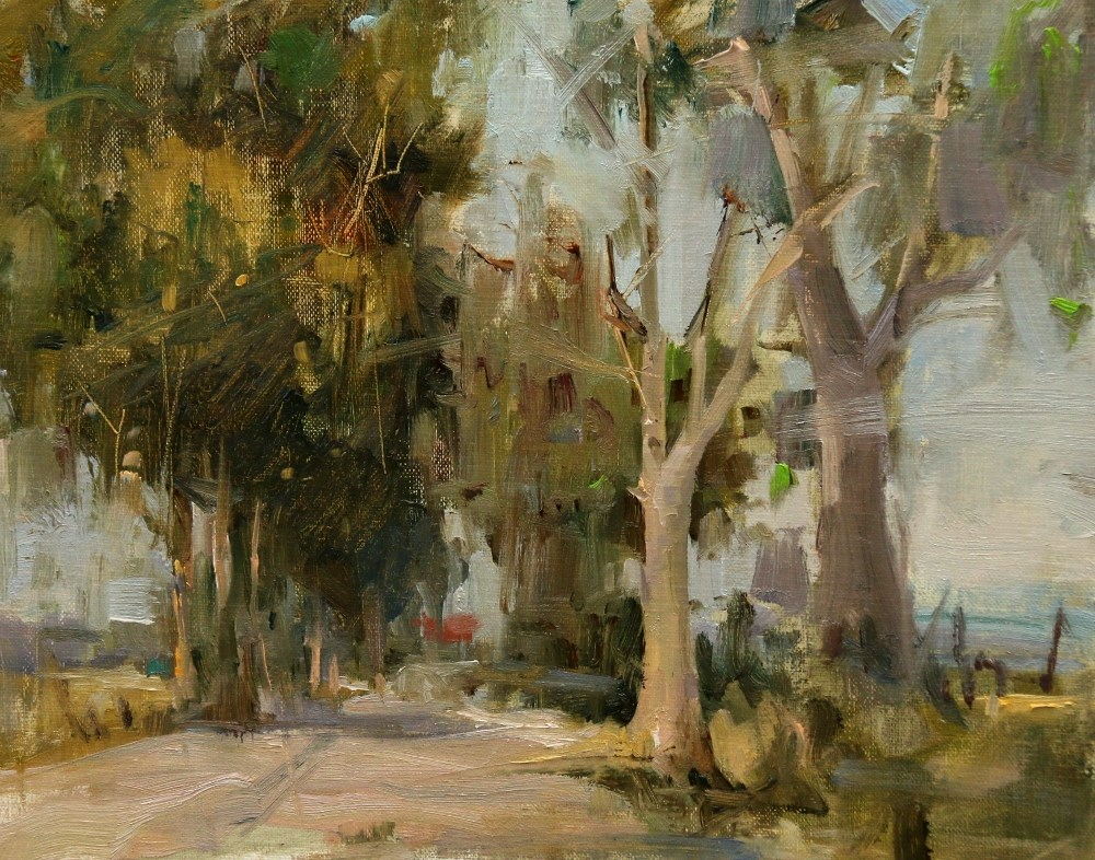 """Derek's Trees"" original fine art by Qiang Huang"