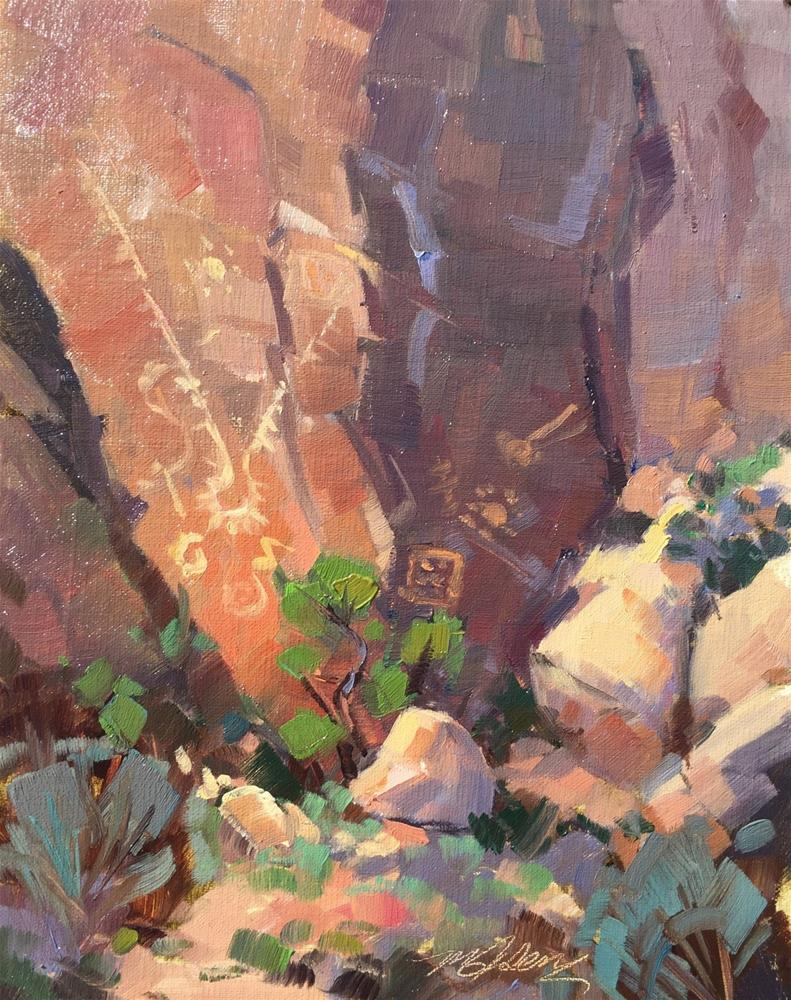 """Petroglyphs - Parowan Gap"" original fine art by Mary Jabens"