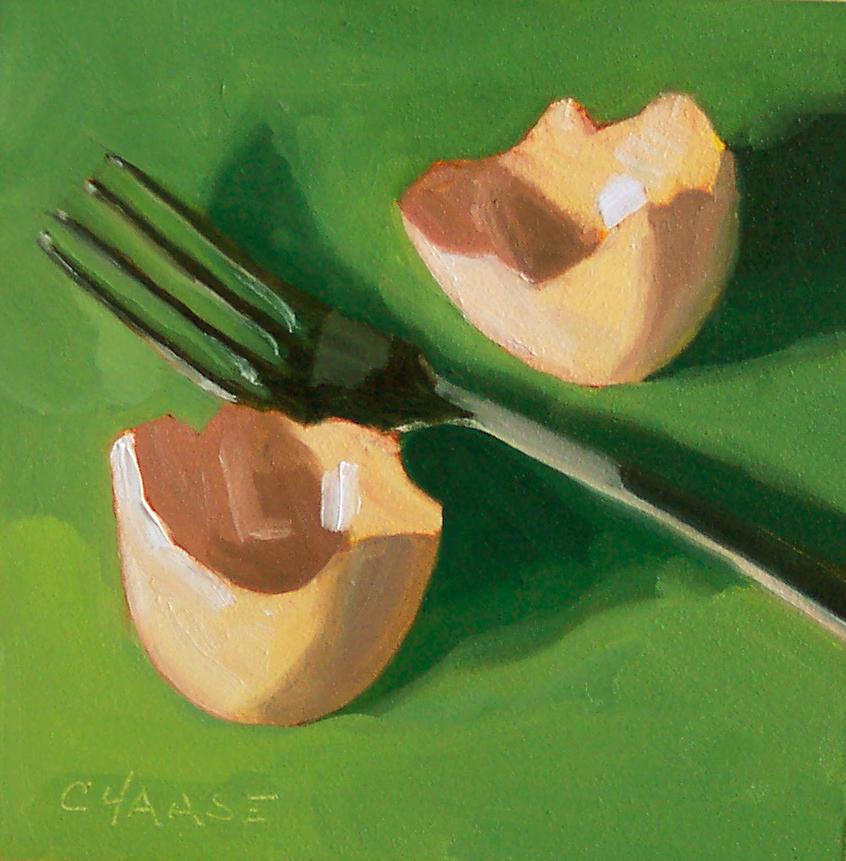 """Scrambled"" original fine art by Cindy Haase"
