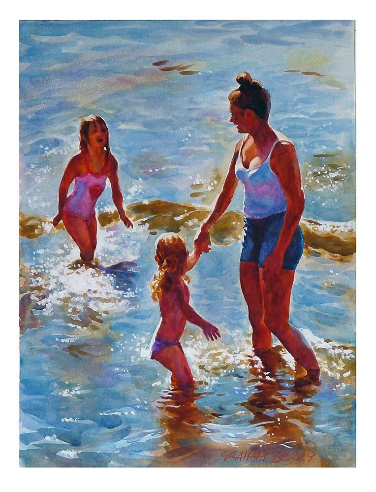 """'Paddling'"" original fine art by Graham Berry"