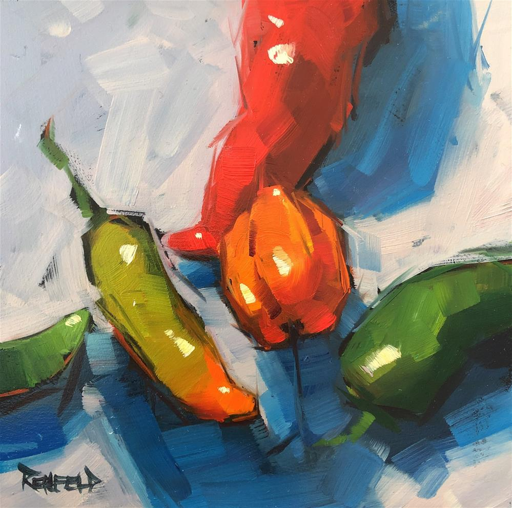 """The Color of Peppers"" original fine art by Cathleen Rehfeld"