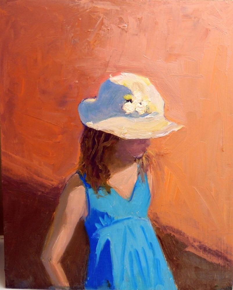 """The yellow hat"" original fine art by Debbie Dowdle"
