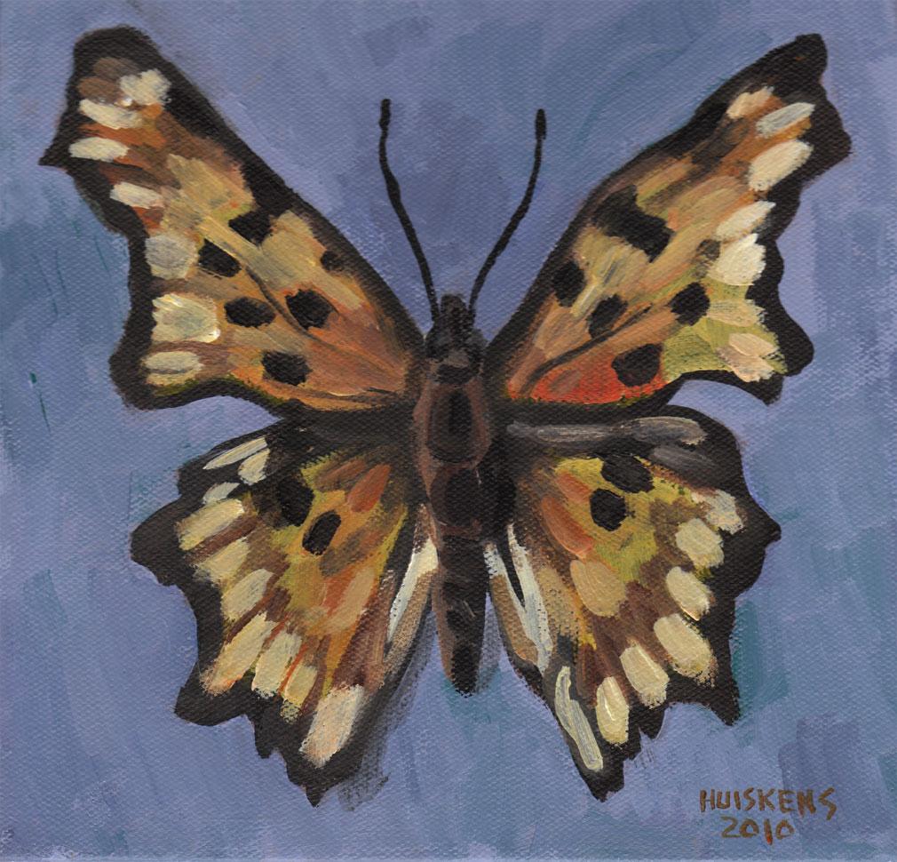 """""""Polygonia Butterfly"""" original fine art by Randal Huiskens"""