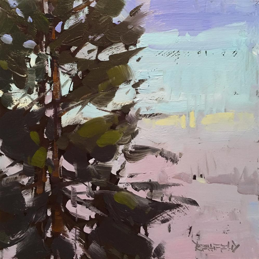 """Winter View"" original fine art by Cathleen Rehfeld"