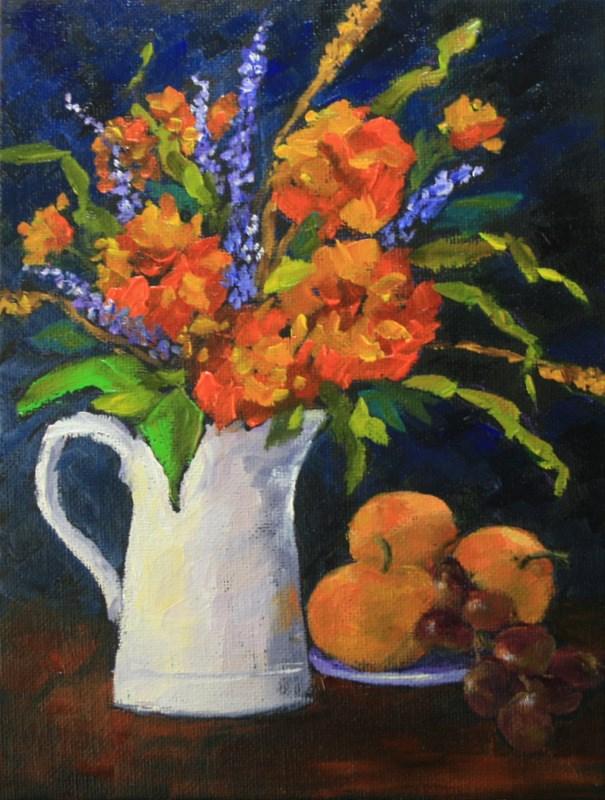 """Autumn Bouquet"" original fine art by Jean Nelson"
