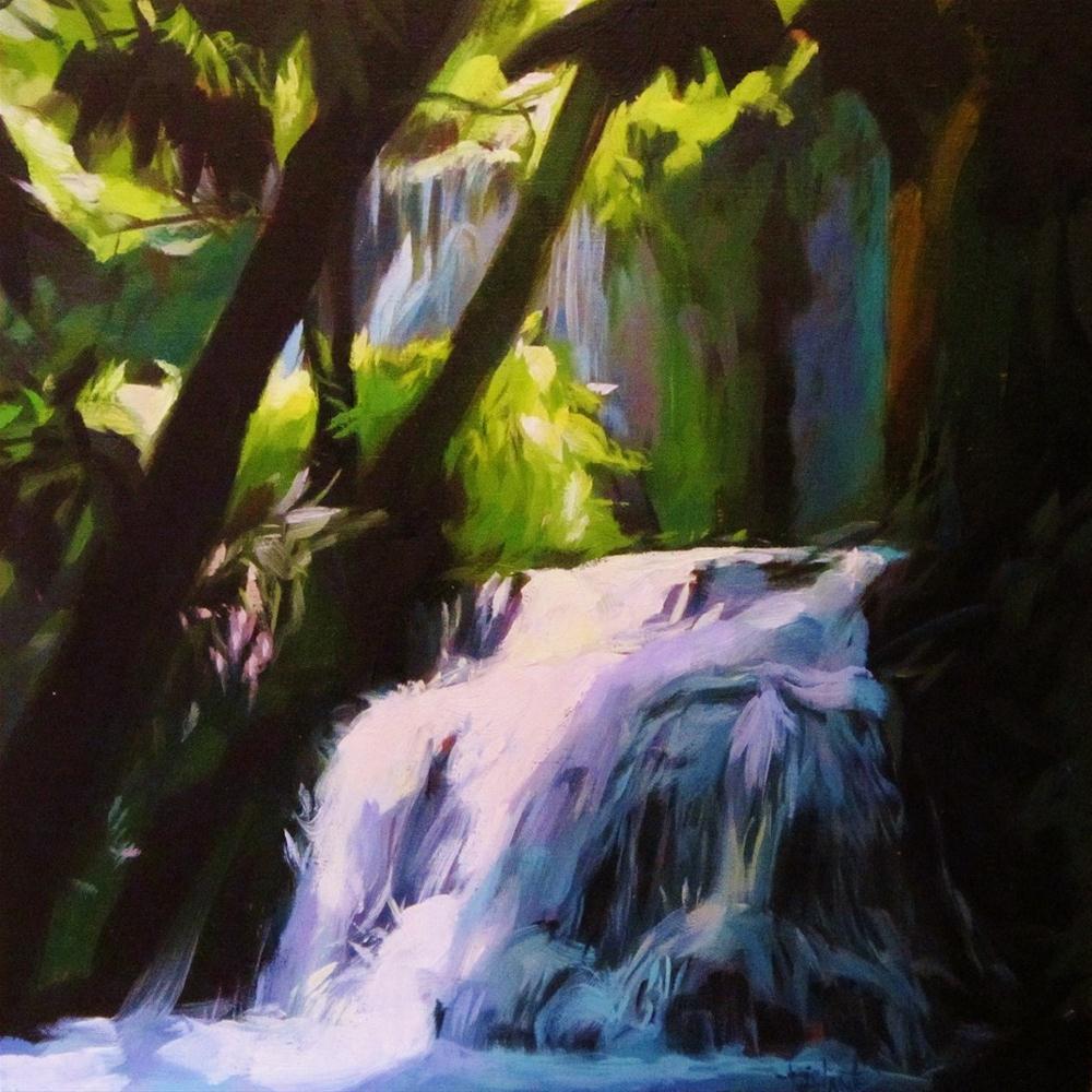 """Waterfall"" original fine art by Víctor Tristante"
