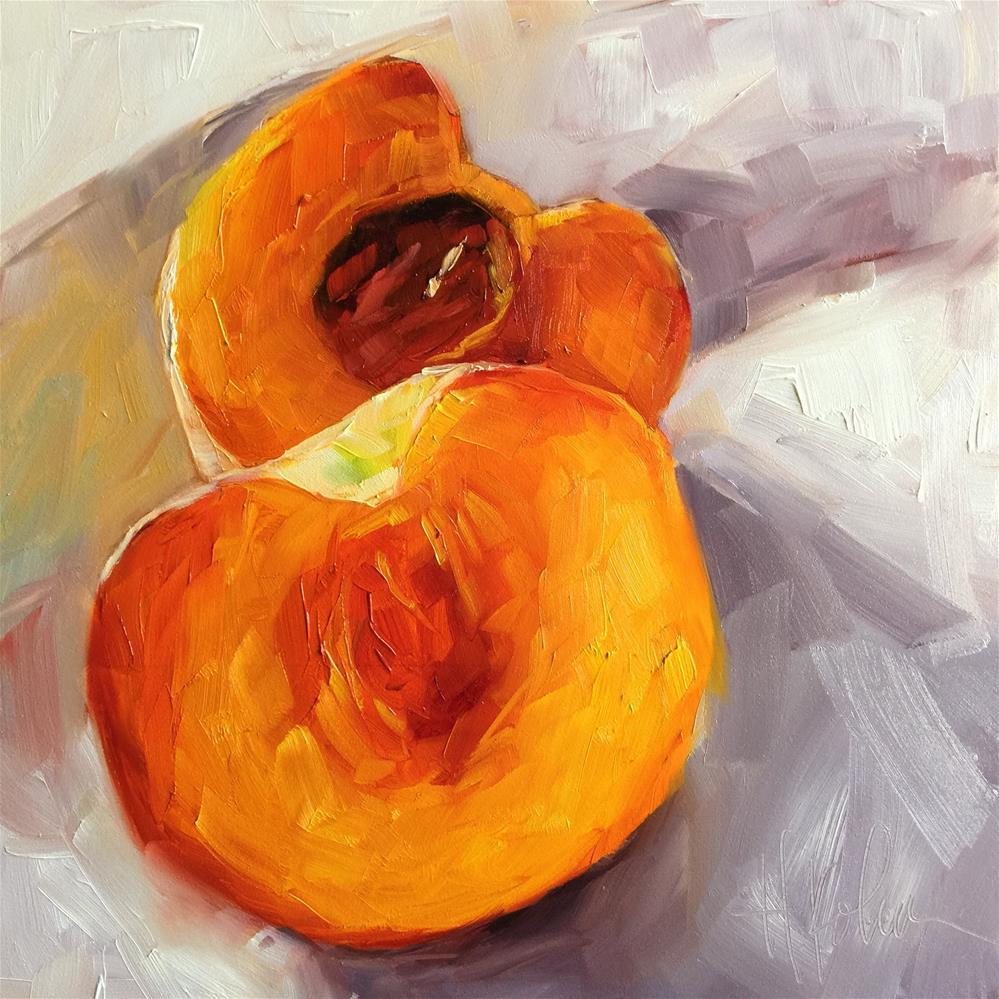 """Peach 3"" original fine art by Hallie Kohn"