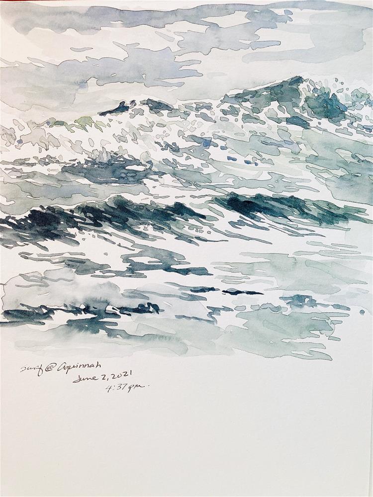 """Afternoon Surf at Aquinnah"" original fine art by Judith Freeman Clark"