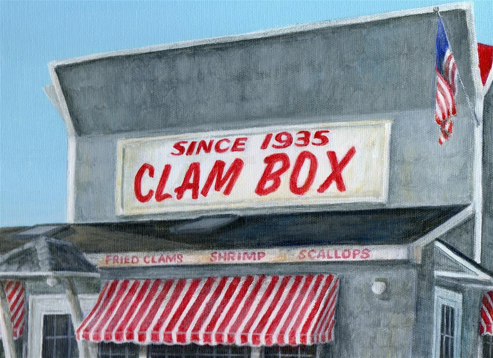 """Clam Box"" original fine art by Debbie Shirley"
