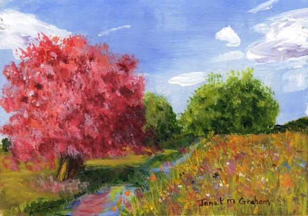"""""""Summers Day ACEO"""" original fine art by Janet Graham"""