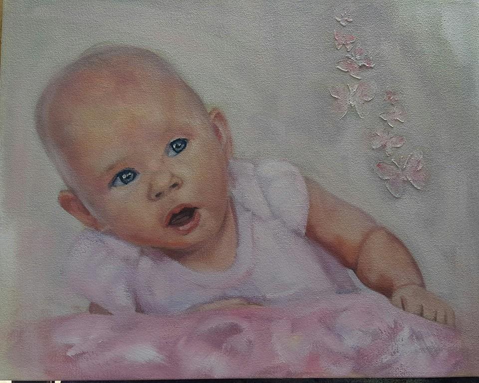 """Her daddy's pride"" original fine art by Rentia Coetzee"