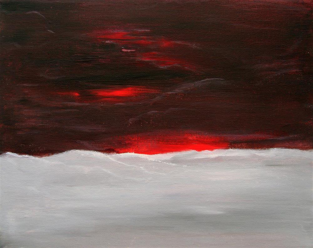 """Red Sunset"" original fine art by Alina Frent"