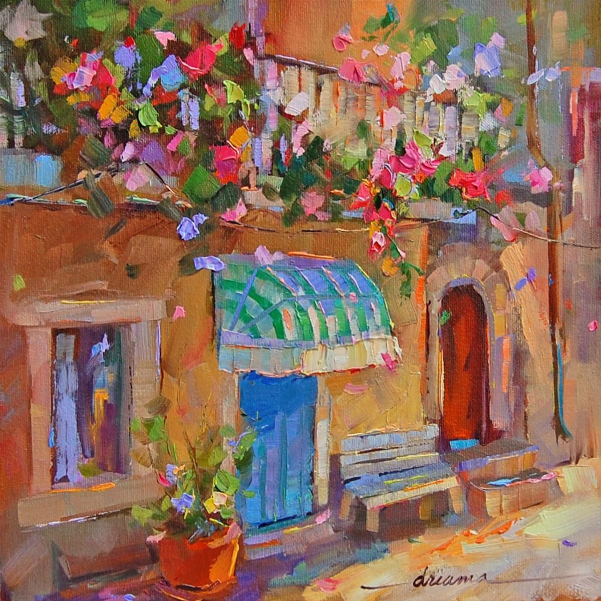 """""""A Fragrant Affair in France"""" original fine art by Dreama Tolle Perry"""
