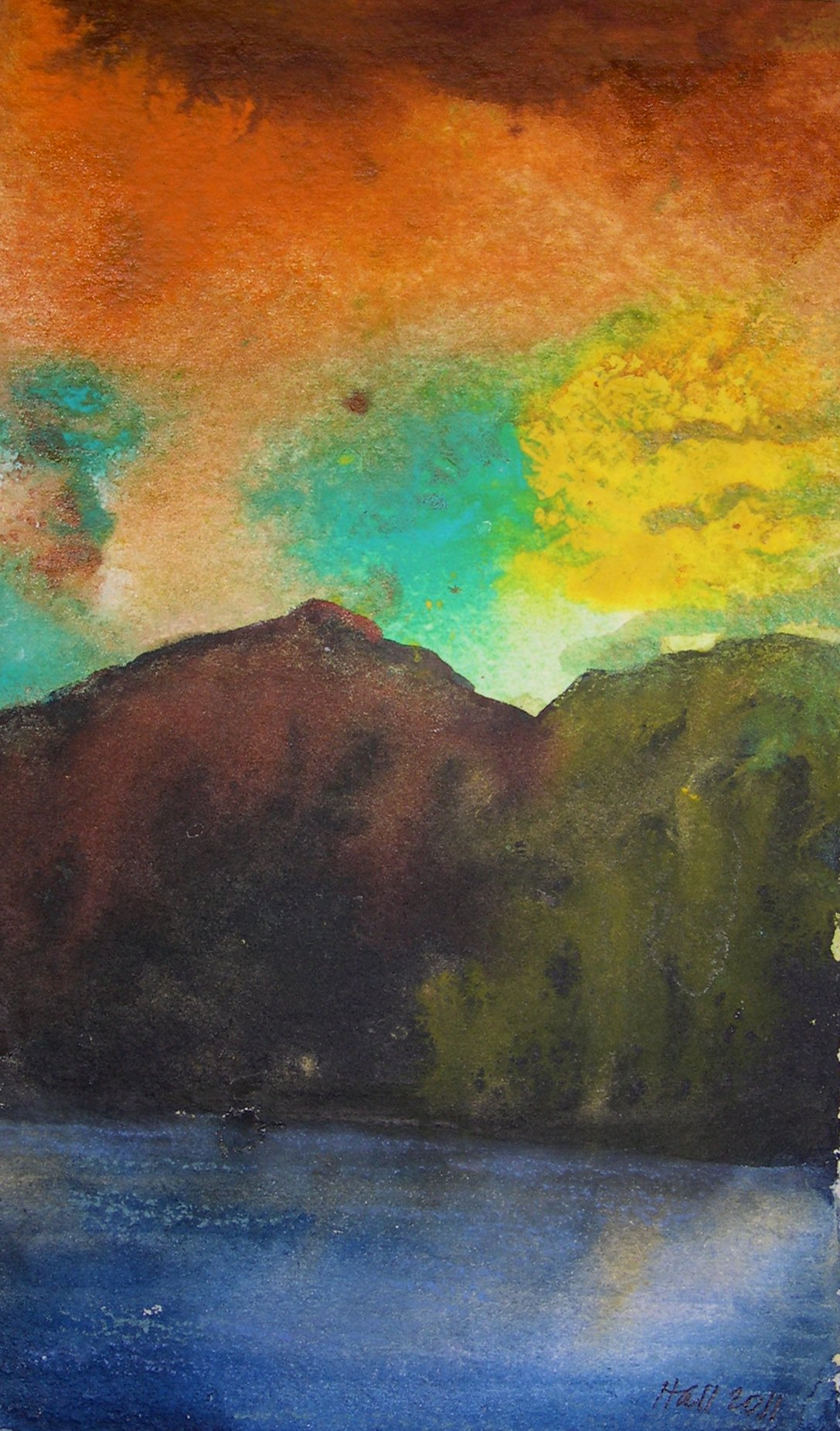 """""""Sunset in the Mountains"""" original fine art by Nancy Hall"""