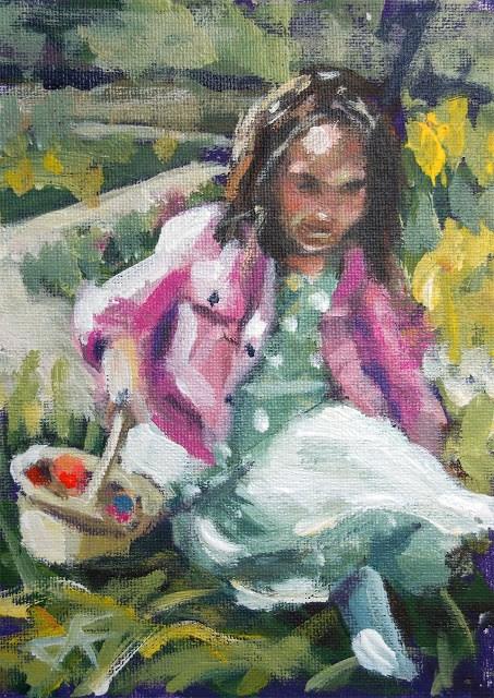 """Egg Hunt"" original fine art by J. Farnsworth"