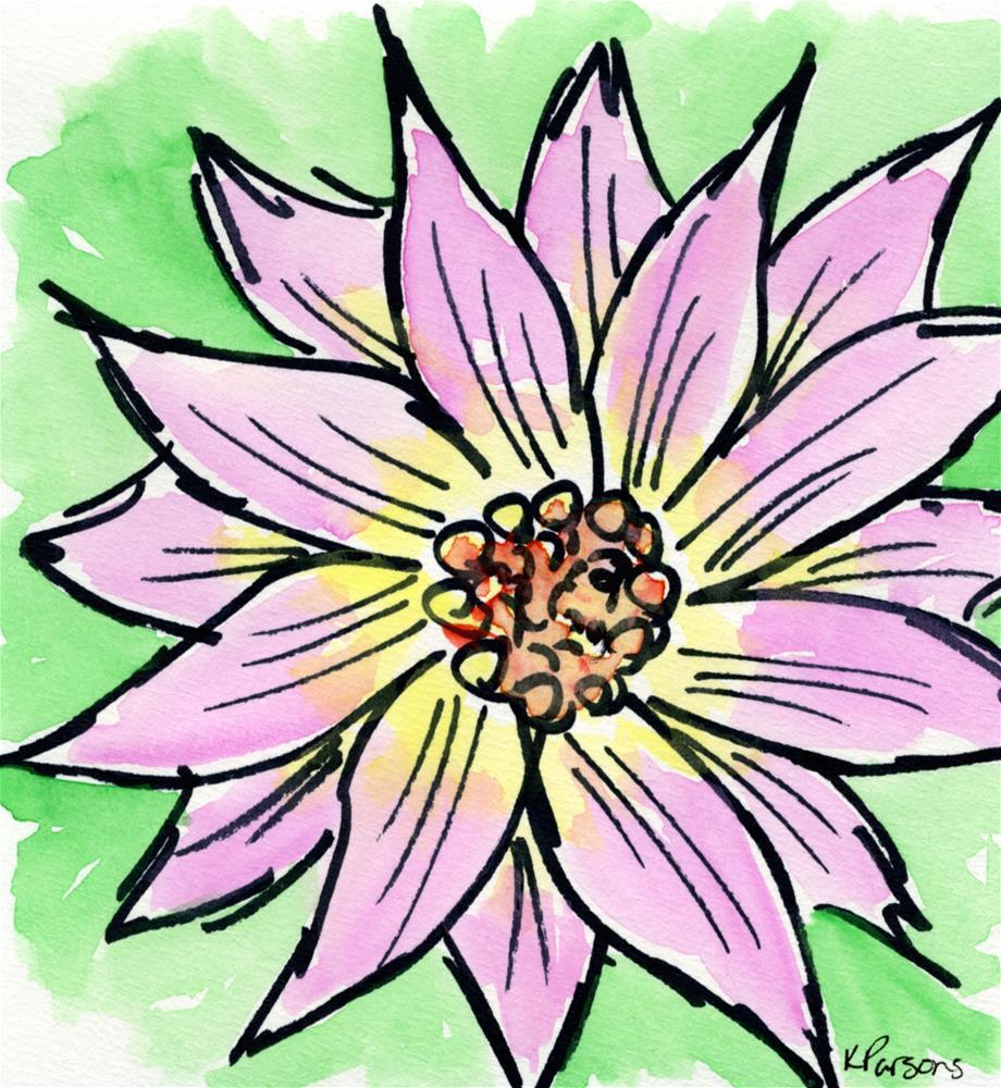 """Pretty in Pink"" original fine art by Kali Parsons"