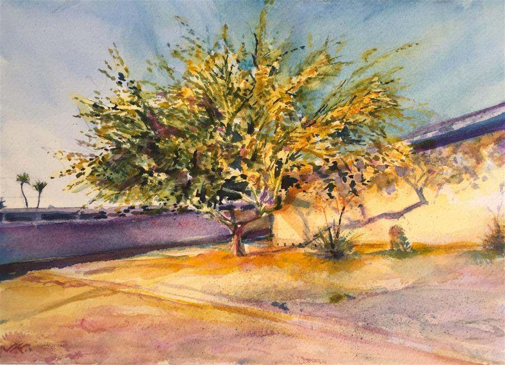 """Palo Verde, Sun City, AZ"" original fine art by Jean Krueger"