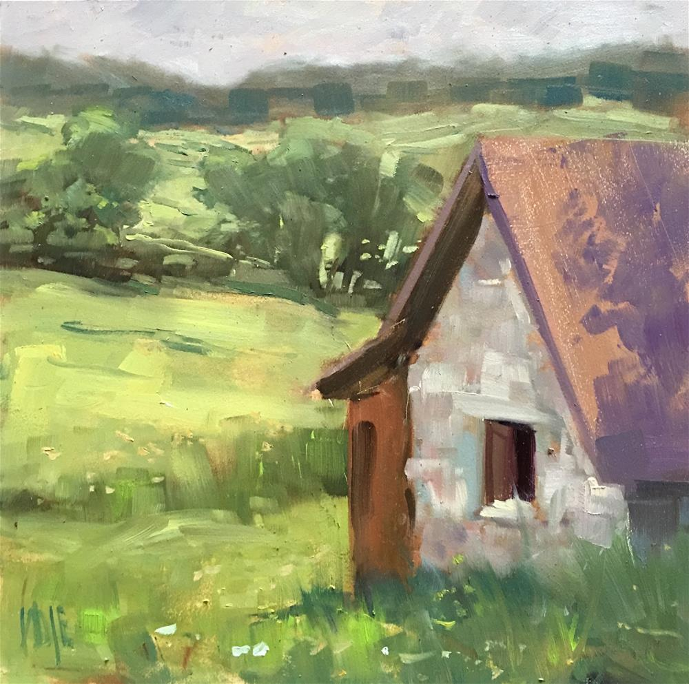 """""""#359 Bunny Barn"""" original fine art by Patty Voje"""