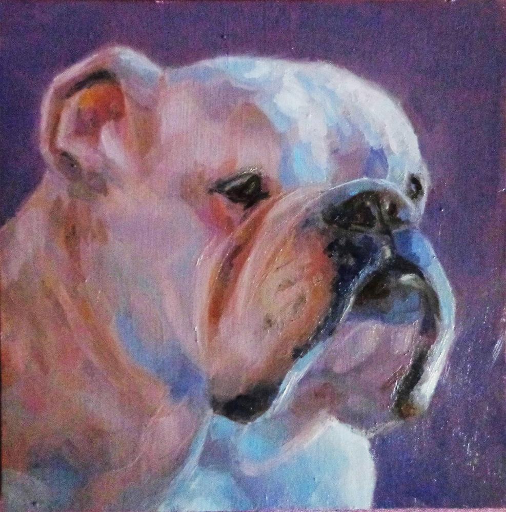"""Grumpy"" original fine art by Maria Z."