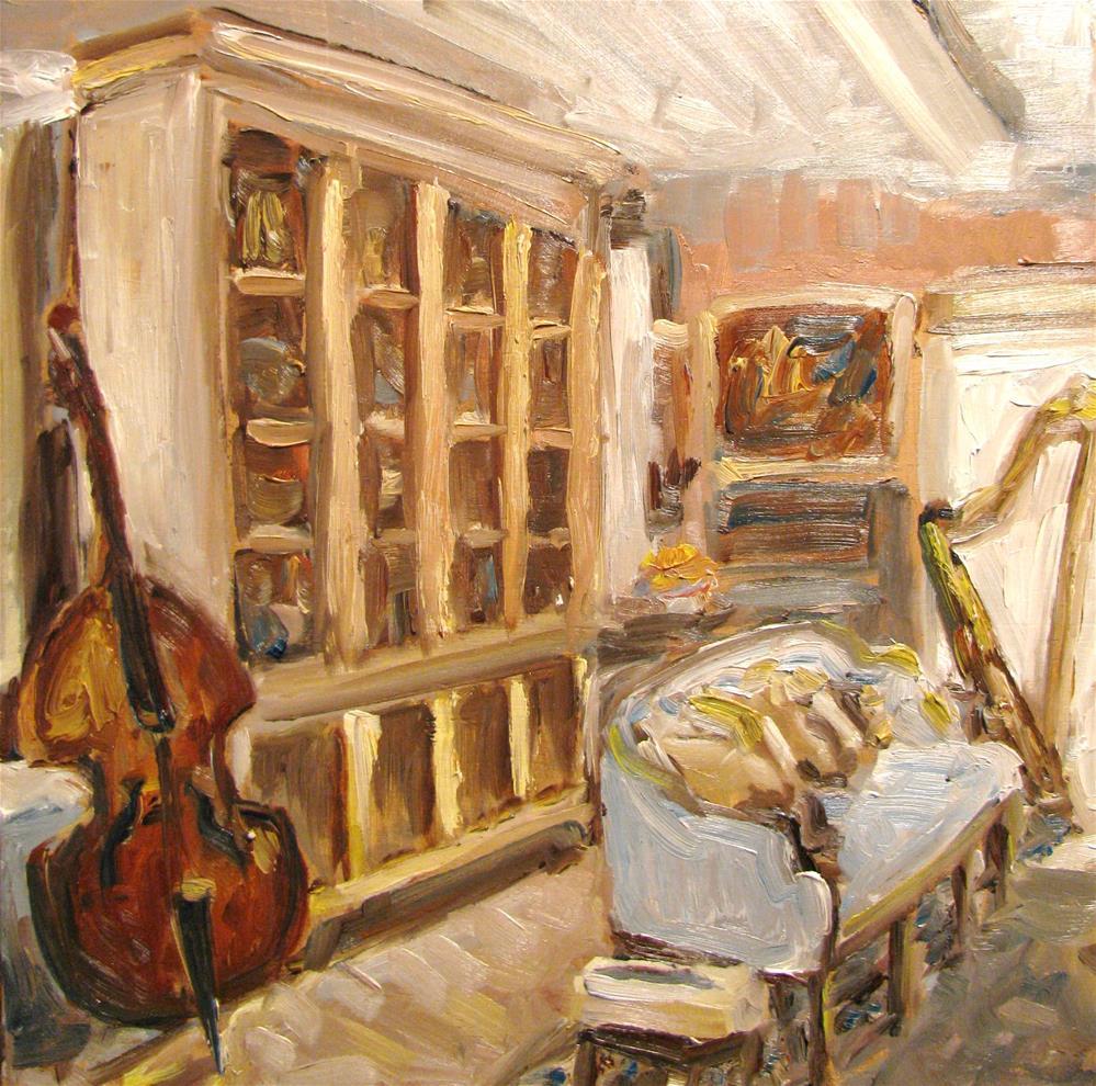 """The Music Room"" original fine art by Susan Elizabeth Jones"
