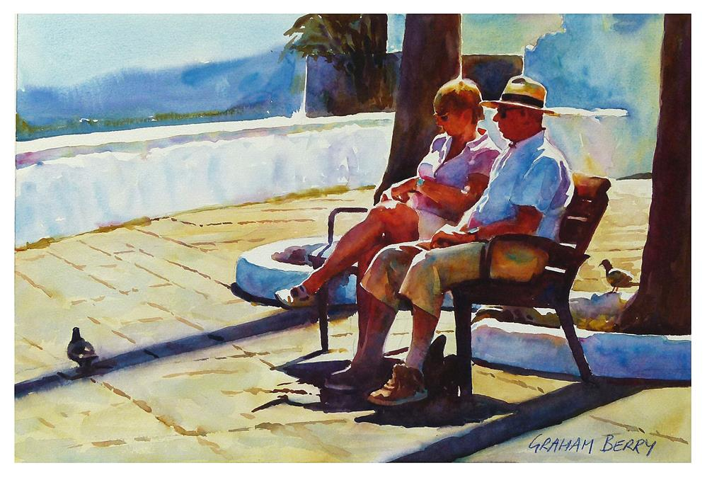 """Holiday couple."" original fine art by Graham Berry"