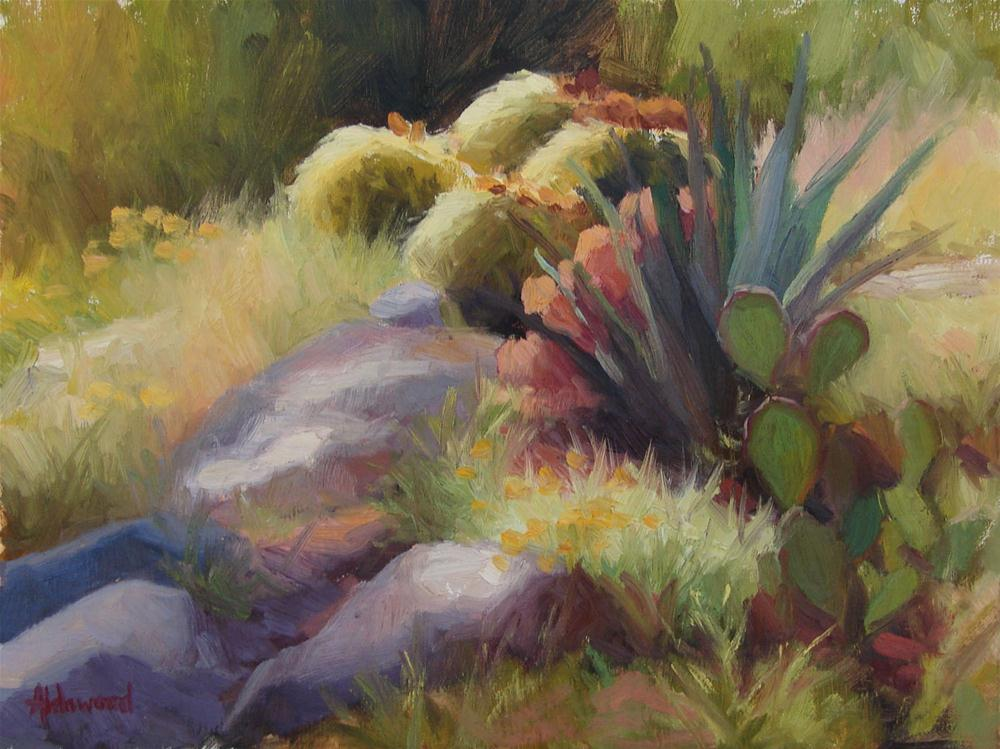 """Barrel Cactus in Midday Sun"" original fine art by Sherri Aldawood"