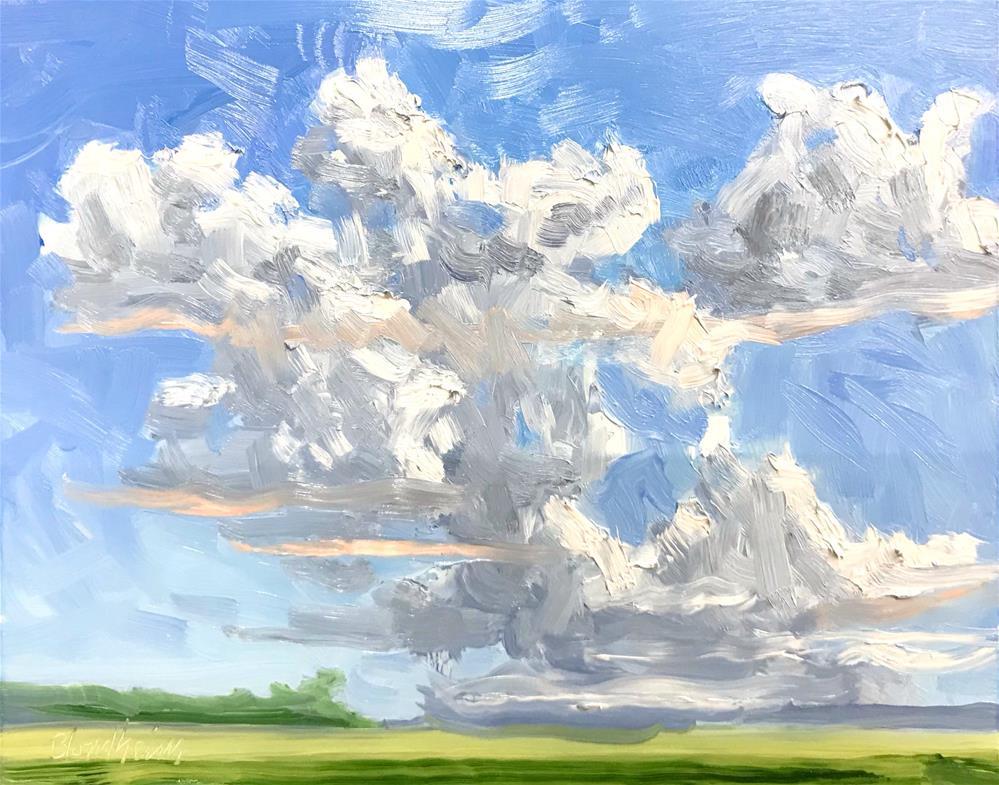 """""""Afternoon Clouds"""" original fine art by Linda Blondheim"""
