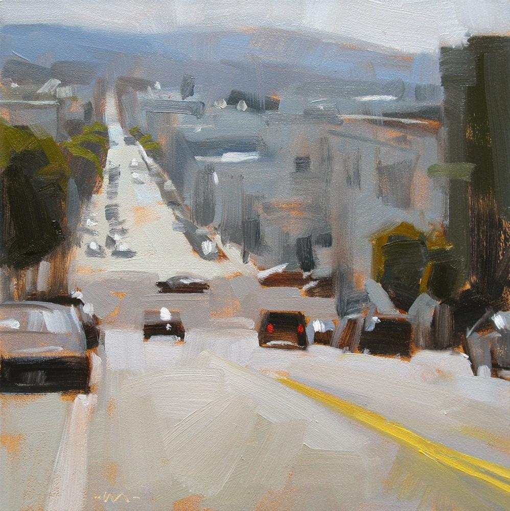 """Street with a View"" original fine art by Carol Marine"