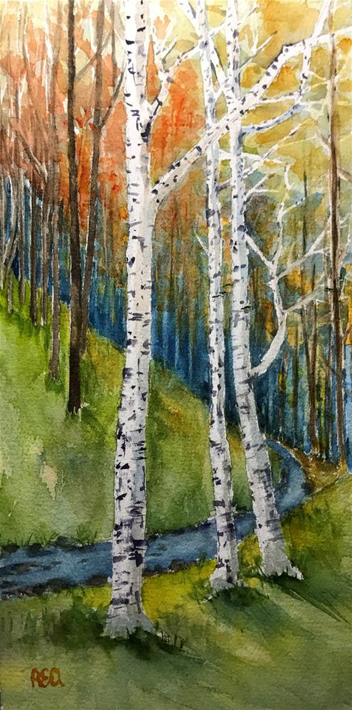"""""""three white birches"""" original fine art by Betty Argiros"""