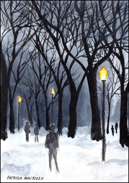 """Glorious Snow"" original fine art by Patricia Ann Rizzo"