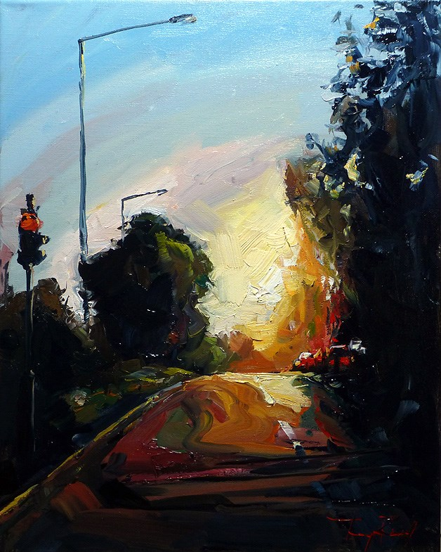 """evening light"" original fine art by Jurij Frey"