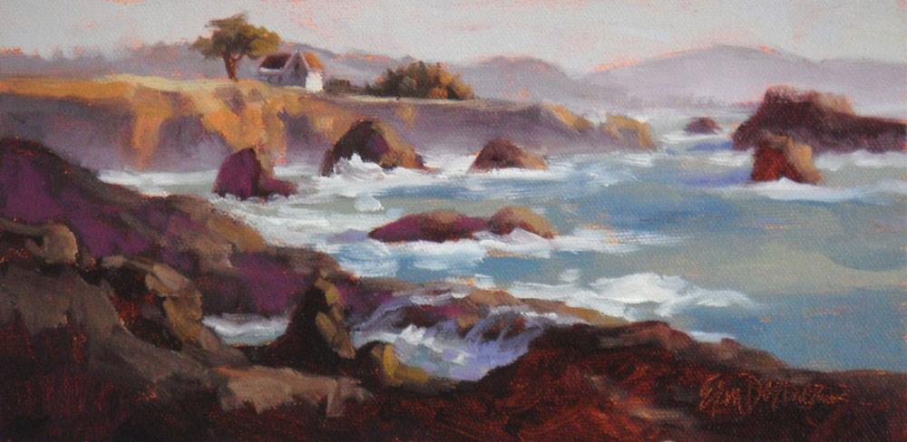 """Pretty in Purple"" original fine art by Erin Dertner"