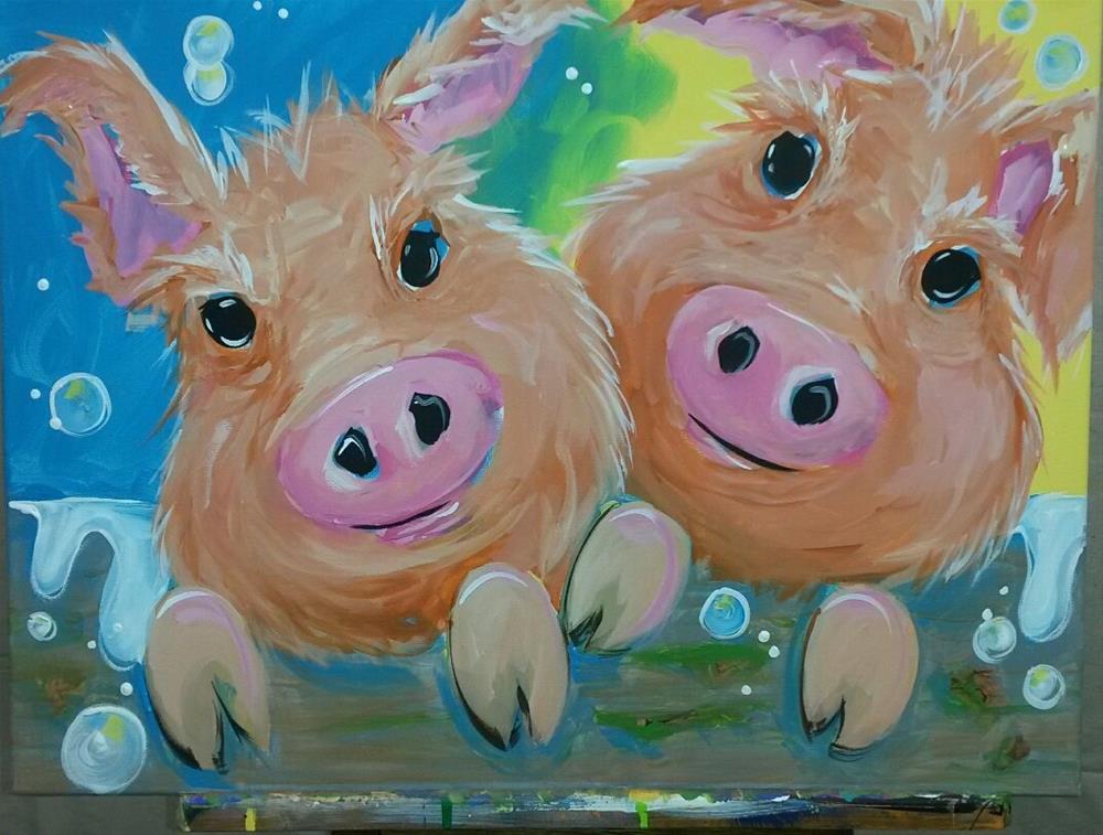 """Bubble Bath"" original fine art by Terri Einer"